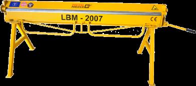 Листогибы, Ручной листогибочный станок Metal Master LBM 2007
